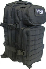 Tactical Trauma Kit #3 First Aid Kit w/ Backpack STOCKED Medic Survival Bag BLK+