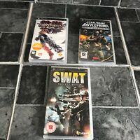 Tekken, Star Wars & Swat Games - PSP Sony Playstation - Complete