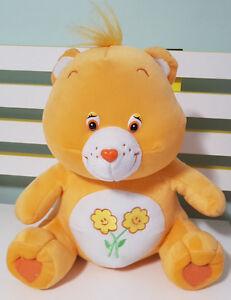 CAREBEARS FRIEND BEAR TEDDY BEAR PLUSH TOY! CUTE SOFT TOY! APPROX 31CM SEATED!