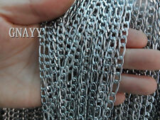 GNAYY 5meter stainless steel 4mm figaro chain Jewelry Finding Chain DIY Necklace