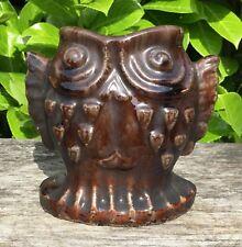 Old Vintage Chinese Ceramic Studio Pottery Brown Glaze Fish Vase