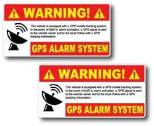 2 Pack GPS Alarm System Warning Decal Security Sticker Vinyl Car Truck Jeep Home