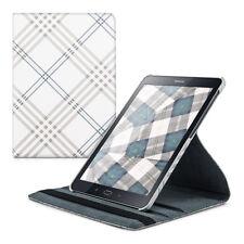 SLL 360 ° Custodia per Samsung Galaxy Tab s2 9.7 GUSCIO Tartan ECOPELLE BIANCO