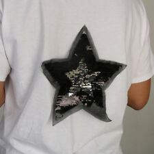 Reversible Change Color Sequins Star Sew on Patch Cloth Applique For T-shirt