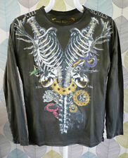 Hip Length Crew Neck Long Sleeve Gothic T-Shirts for Women