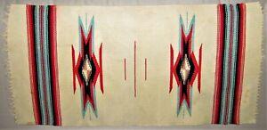 "Vintage Navajo Native American Indian Rug Textile 14.5"" x 28"" Southwest 5 Colors"