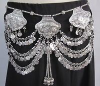 Coin Fringe Tassel Tribal Belly Dance BELT Boho Gypsy Festival Kuchi Banjara new