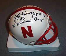 Nebraska Huskers Johnny Rodgers & Jeff Kinney Signed Autographed Mini Helmet