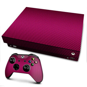 Xbox One X Console Skins Decal Wrap ONLY Pink,black carbon fiber look