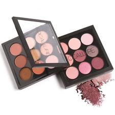 9 Colores Sombra de ojos cosméticos MAQUILLAJE BRILLO MATE Belleza Paleta