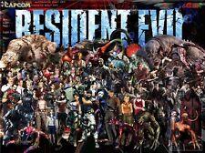 "Resident Evil - 1 2 3 4 5 6 Biohazard Zombie Shoot TV Game 17""x13"" Poster 033"