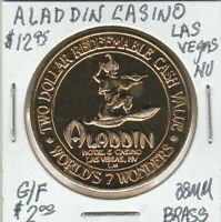 (Z)  Token - Las Vegas, NV - Aladdin Casino - G/F $2 - 38 MM Brass