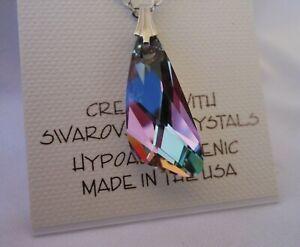 Swarovski Elements Crystal in Vitrail Light Color  Pendant Necklace   NEW ITEM