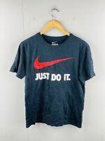 Nike Men's Vintage Short Sleeve Crew Neck Logo T Shirt Size M Black