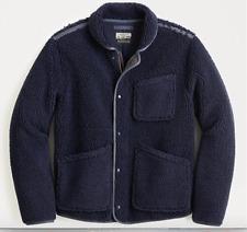 J CREW Nordic sherpa fleece shawl-collar jacket