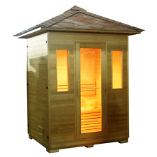 3 (THREE) PERSON OUTDOOR INFRARED SAUNA WITH CARBON HEATERS AND FREE DELIVERY