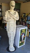 Gemmy Life Size 6 Ft Halloween Mummy Animated Light Up with Original Box. Rare