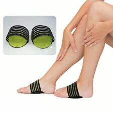 Pair Plantar Fasciitis Therapy Wrap Arch Support Brace Heel Foot Pain Flat Feet
