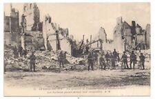 un quartier de louvain aprés le bombardement