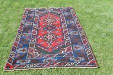 4x7ft Turkish Anatolian Wool Rug Handmade Antique Oushak Cappadocia Carpet