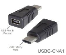 USB Type-C Male to USB Mini-B 5-Pin Female USB 2.0 Adapter, USBC-CNA1