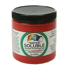Speedball Water Soluble Screen Printing Ink Red 8oz