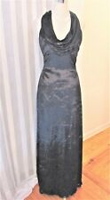 Rimini black rayon silk velvet halter maxi dress sz 10 NWOT