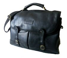 LARGE VINTAGE BARBOUR LEATHER BRIEFCASE - MESSENGER / LAPTOP BAG - COST ££249