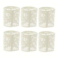 6Pcs Wedding Party Tea Light Holder Laser Cut Heart Paper Lanterns Candle -Codl