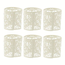 6Pcs Wedding Party Tea Light Holder Laser Cut Heart Paper Lanterns Candle Gifts