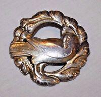 Vintage Georg Jensen Denmark Sterling Silver Dove Pin Brooch