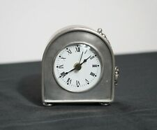 Match Italian Pewter Table Clock