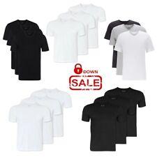 Hugo Boss Herren T-Shirts 3er Pack V-Neck/C-Neck Farbwahl