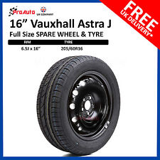 "VAUXHALL ASTRA J  2009 - 2015 FULL SIZE STEEL SPARE WHEEL 16"" 5 X105  & TYRE"