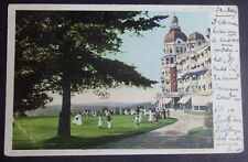 1905 POSTCARD OF PUTTING COURSE AT POLAND SPRINGS WATER BOTTLERS RESORT MAINE