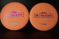 New Pair of Discraft Prototype Mcbeth Luna 170-172g  Rainbow Shatter stamp