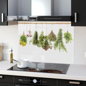 Splashback Kitchen Toughened Glass ANY SIZE Heat Resist Cooking Herbs 70601237n