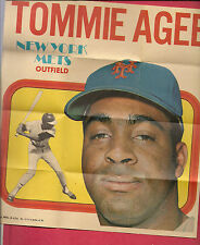 RARE 1970 TOPPS # 13 METS TOMMIE AGEE  POSTER