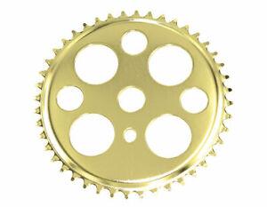"Bicycle Gold Lucky 7 Sprocket 44T 1/2"" x 1/8"" Chopper Bike Lowrider Cruiser"