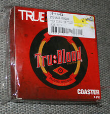 "True Blood O Positive Blood Orange 3.5"" Diameter 4pack Coaster Set New in Box"