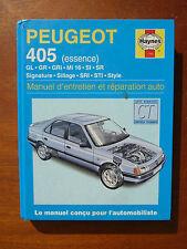 Antiguo manual de mantenimiento y reparación automóvil PEUGEOT 405