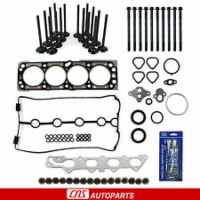 04-05 Chevrolet Aveo 1.6 Head Gasket Set Bolts Intake Exhaust Valve RTV Silicone