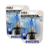 HB3 9005 PHILIPS Diamond Vision 5000K Genuine Ultimate White Light Bulb Headlamp
