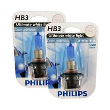HB3 9005 PHILIPS Diamond Vision 5000K Ultimate White Light Bulbs Headlamp