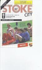 Stoke City Home Team Under 18s/ 21s Football Programmes