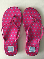 Ladies NEW REEF sandals (flip flops) in pretty hot pink with blue spots size 37