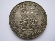 1923 George V silver shilling, NVF.