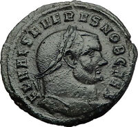 SEVERUS II 305AD Follis Genius Large Authentic Ancient Roman Coin RARE i60606