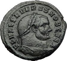 SEVERUS II 305AD Follis Genius Large Authentic Ancient Roman Coin RARE i60606