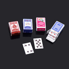 Miniature Poker Dollhouse Toy Game for Barbie Doll Home Decor Kid Playing Game